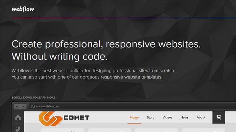 webflow kodlama bilmeden site oluşturun